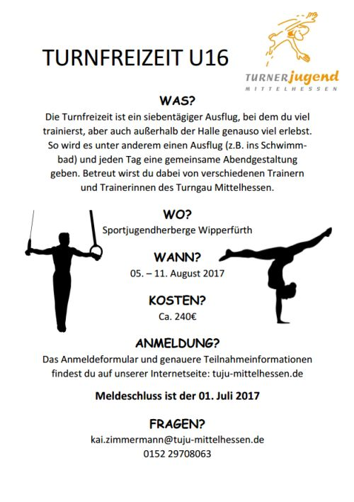 Turnfreizeit Flyer